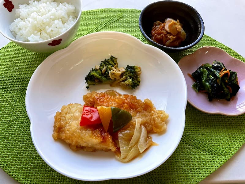 ナッシュnash白身魚の甘酢ソース24