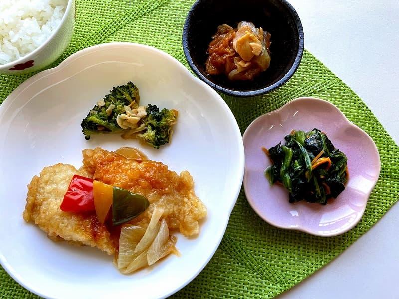 ナッシュnash白身魚の甘酢ソース25