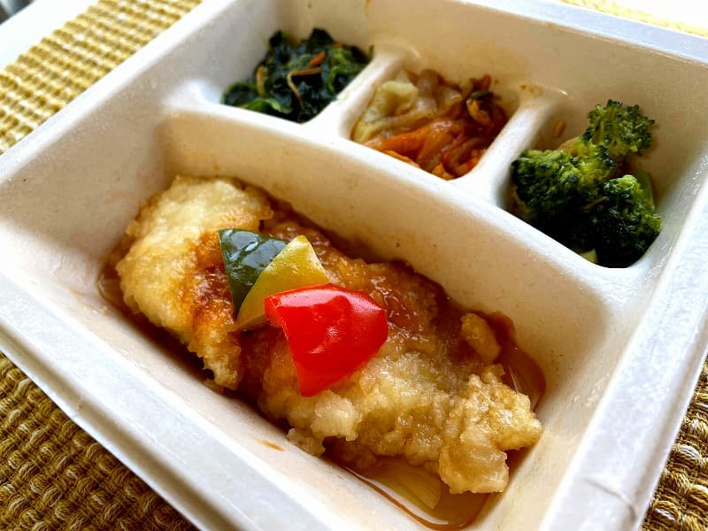 ナッシュnash白身魚の甘酢ソース22