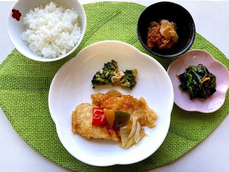 ナッシュnash白身魚の甘酢ソース23